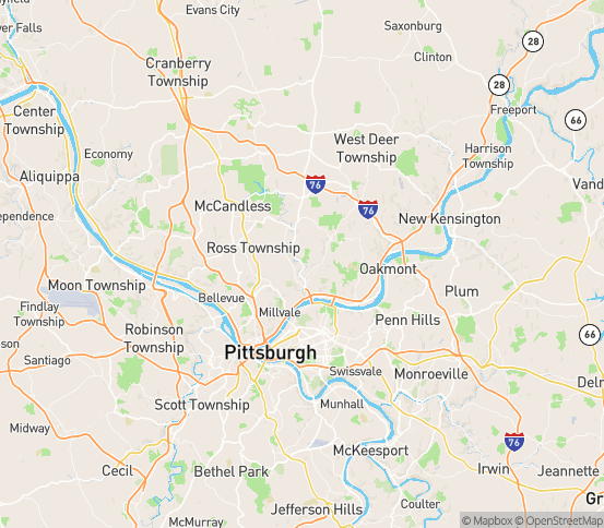 Map of Glenshaw, PA