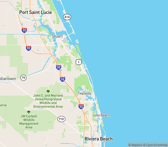 Map of Hobe Sound, FL