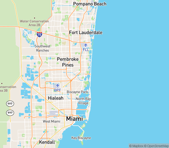Map of North Miami, FL