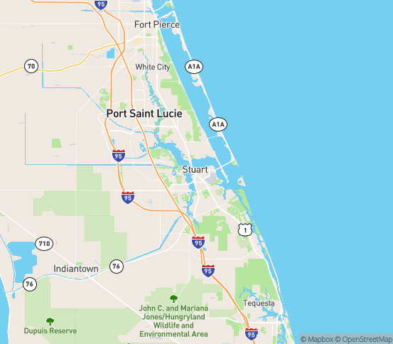 Map of Stuart, FL