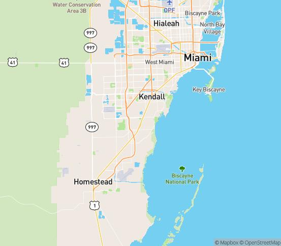 Map of Perrine, FL