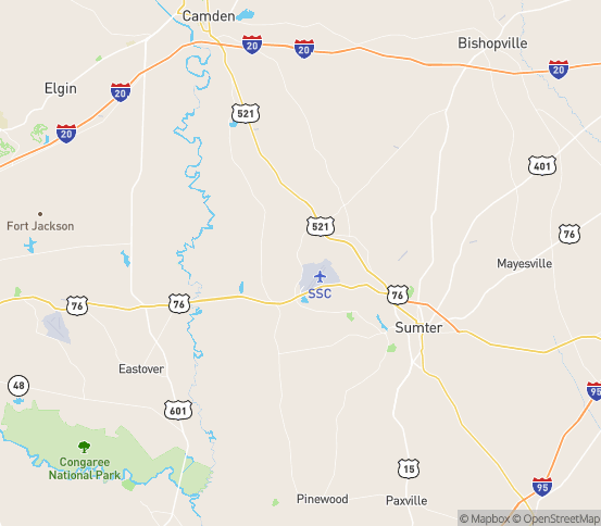 Map of Shaw A F B, SC
