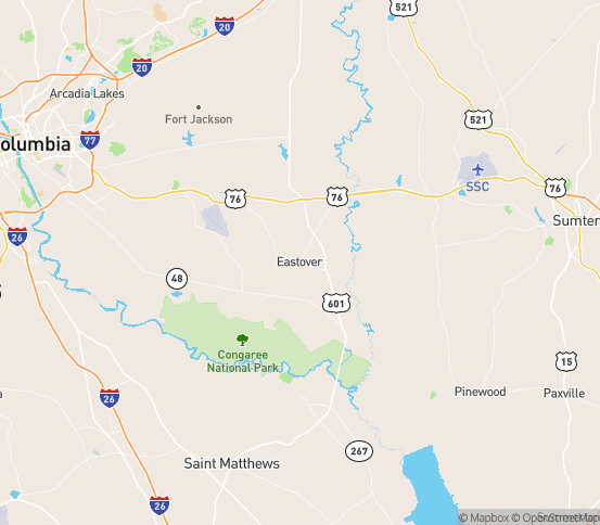 Map of Eastover, SC