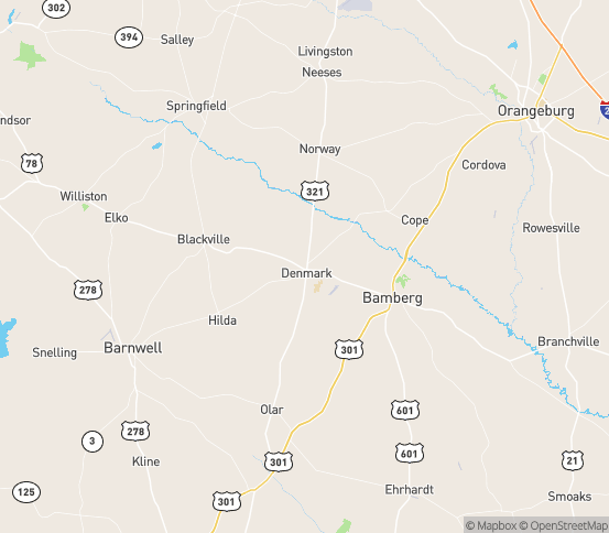 Map of Denmark, SC