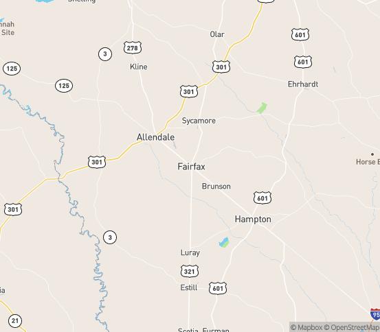 Map of Brunson, SC