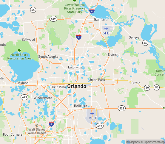 Map of Winter Park, FL