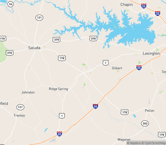 Map of Batesburg, SC