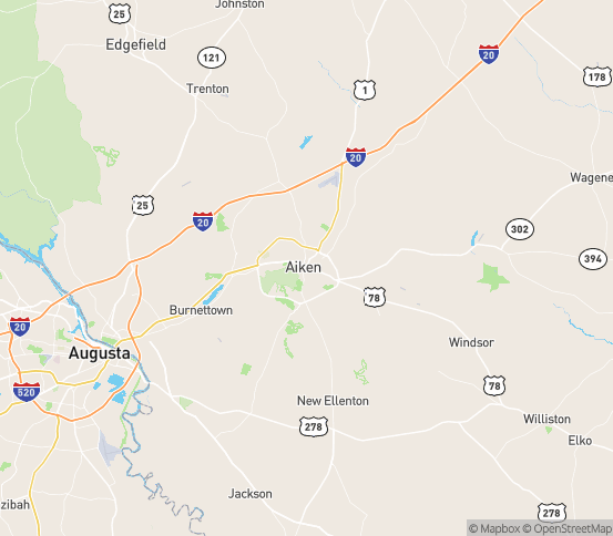 Map of Aiken, SC