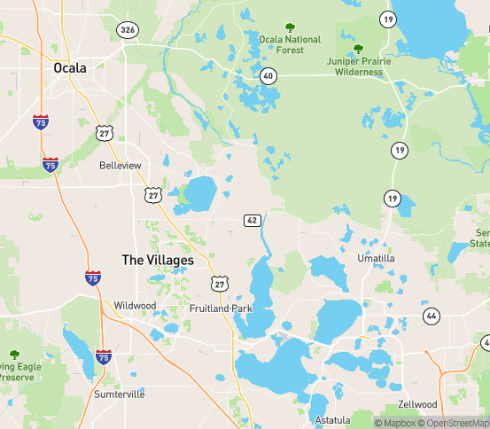 Map of Weirsdale, FL