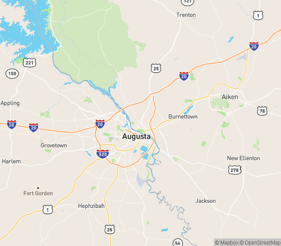 Map of North Augusta, SC