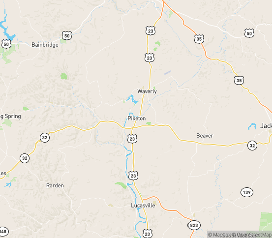 Map of Piketon, OH