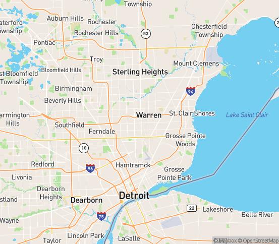 Map of Center Line, MI