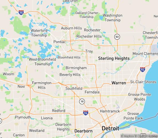 Map of Utica, MI