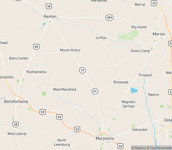 Map of Richwood, OH