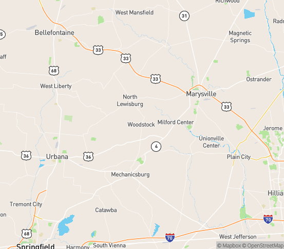 Map of Woodstock, OH