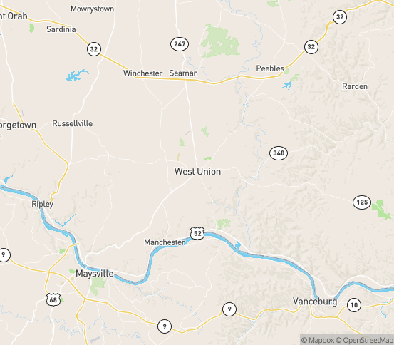 Map of West Union, OH