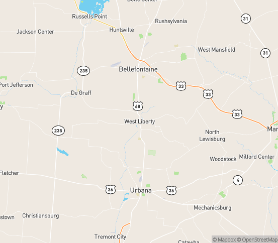 Map of West Liberty, OH