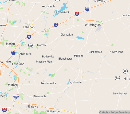 Map of Blanchester, OH
