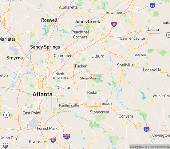 Map of Stone Mountain, GA
