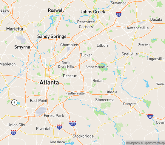 Map of Scottdale, GA