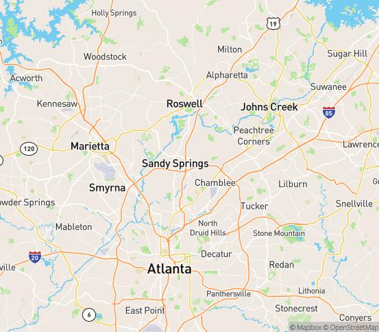 Map of Atlanta, GA