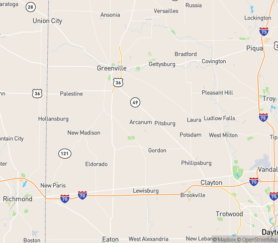 Map of Arcanum, OH