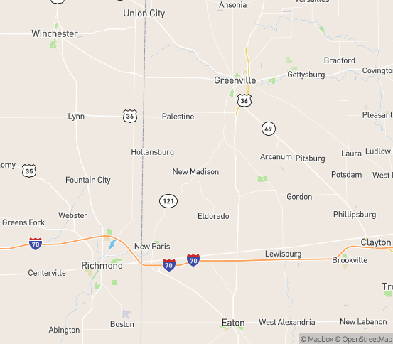 Map of New Madison, OH