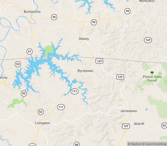 Map of Byrdstown, TN