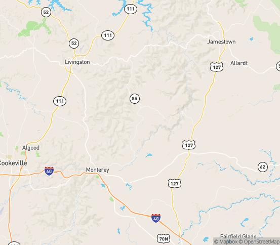 Map of Crawford, TN