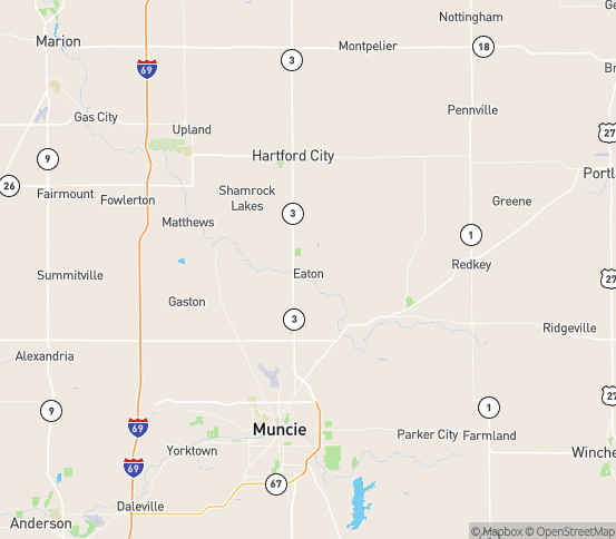 Map of Eaton, IN