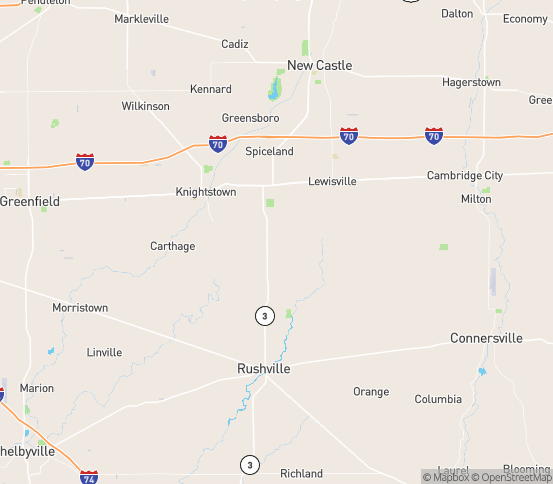 Map of Lewisville, IN