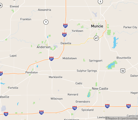 Map of Middletown, IN