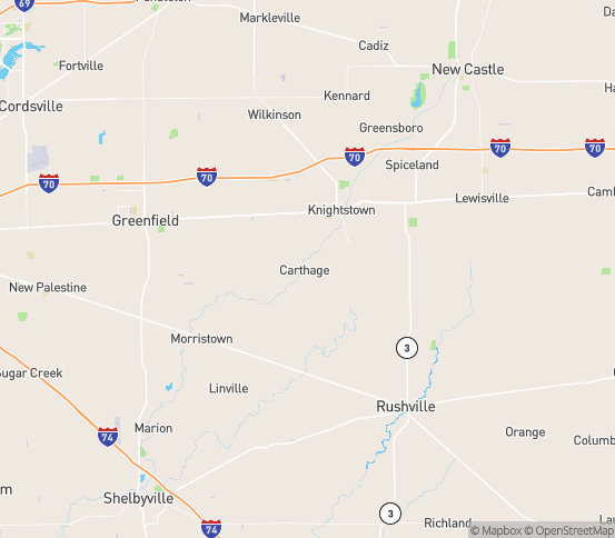Map of Carthage, IN