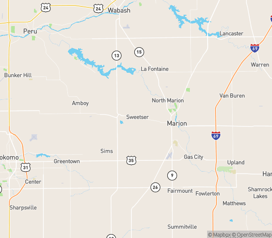 Map of Converse, IN