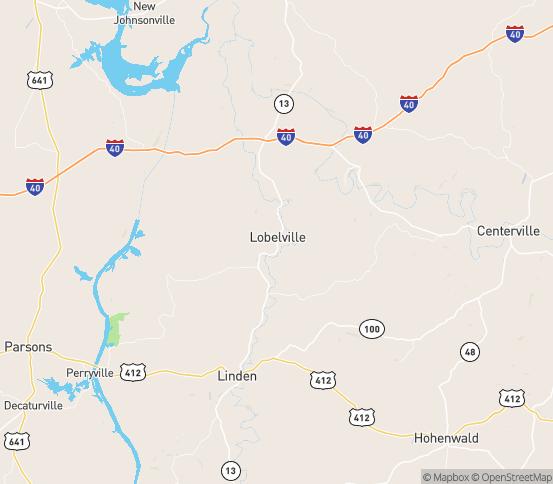 Map of Lobelville, TN