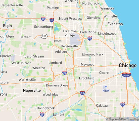Map of Elmhurst, IL