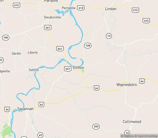 Map of Bath Springs, TN