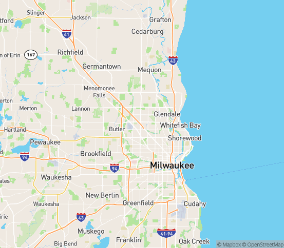 Map of Milwaukee, WI