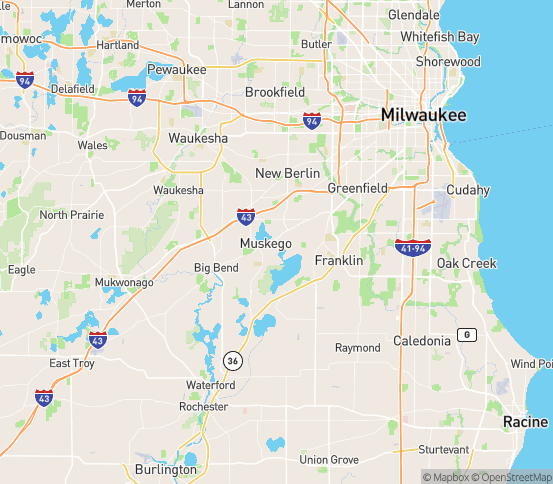 Map of Muskego, WI