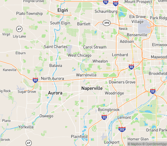 Map of Warrenville, IL