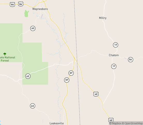 Map of State Line, MS