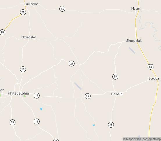 Map of Preston, MS