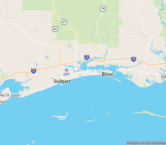 Map of Gulfport, MS