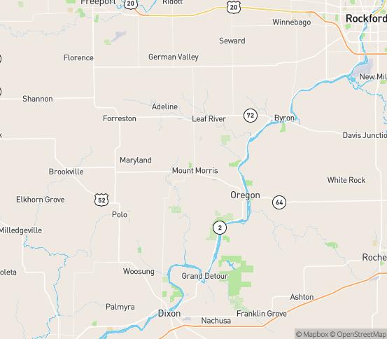 Map of Mt Morris, IL