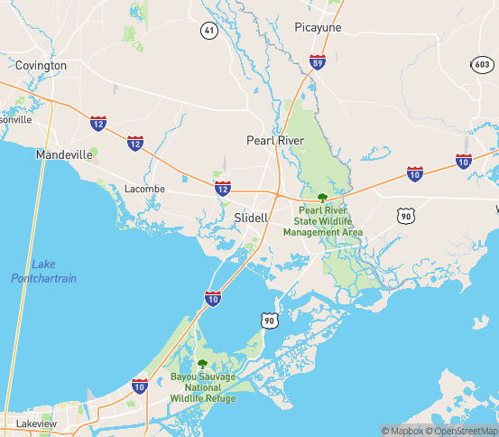 Map of Slidell, LA