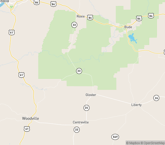 Map of Crosby, MS
