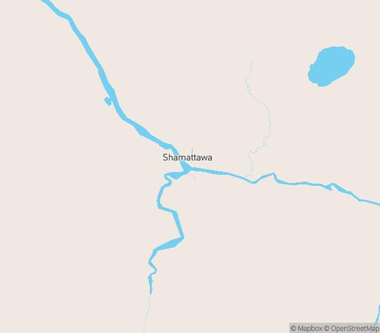 Map of Shamattawa, MB