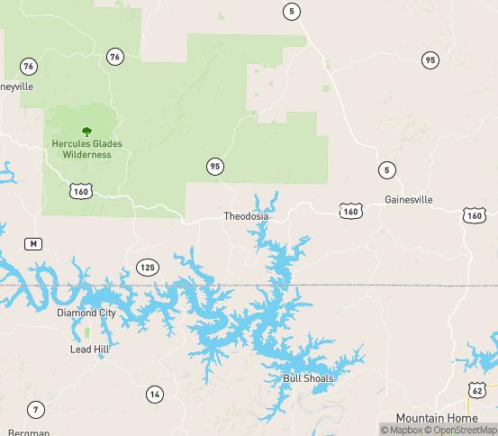 Map of Isabella, MO