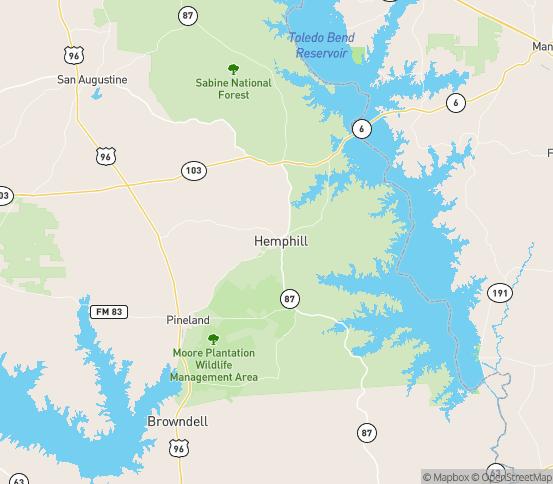 Map of Bronson, TX