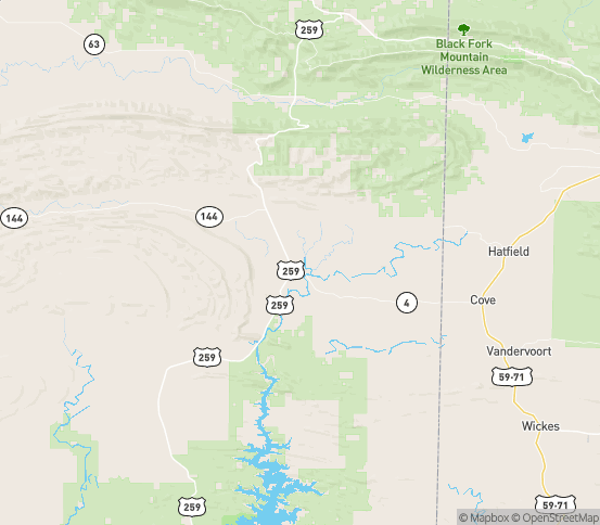 Map of Smithville, OK